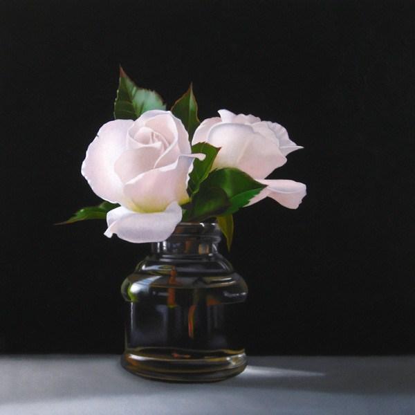 """Rose Blush 10x10"" original fine art by M Collier"