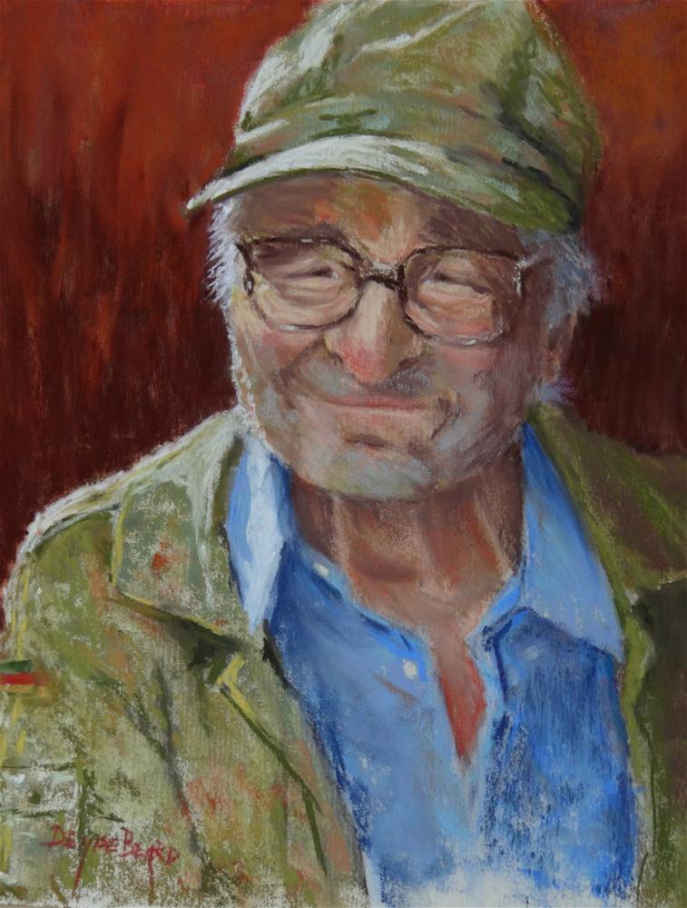 """Citta Della Pieve Farmer"" original fine art by Denise Beard"