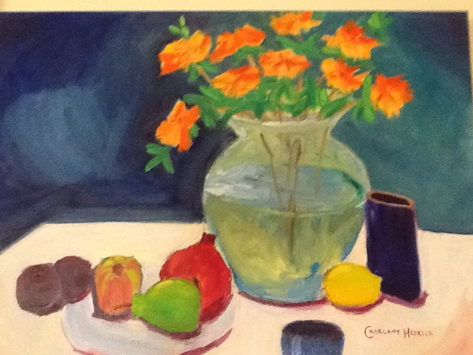 """For Fruit and Flowers"" original fine art by Charlotte Bankhead Hedrick"