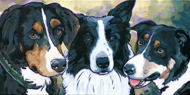 """Sadie/Bear/Fern"" original fine art by Nadi Spencer"