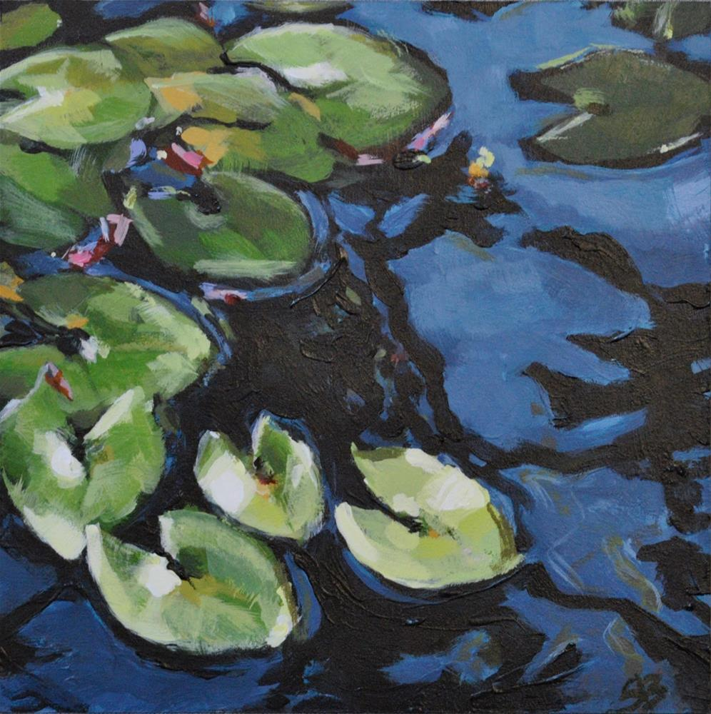 """Water Lilies"" original fine art by Shari Buelt"