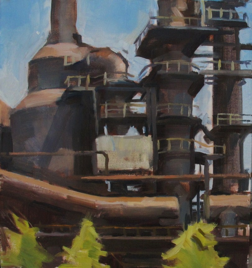 """Steel Mill Section, Bethlehem"" original fine art by Taryn Day"