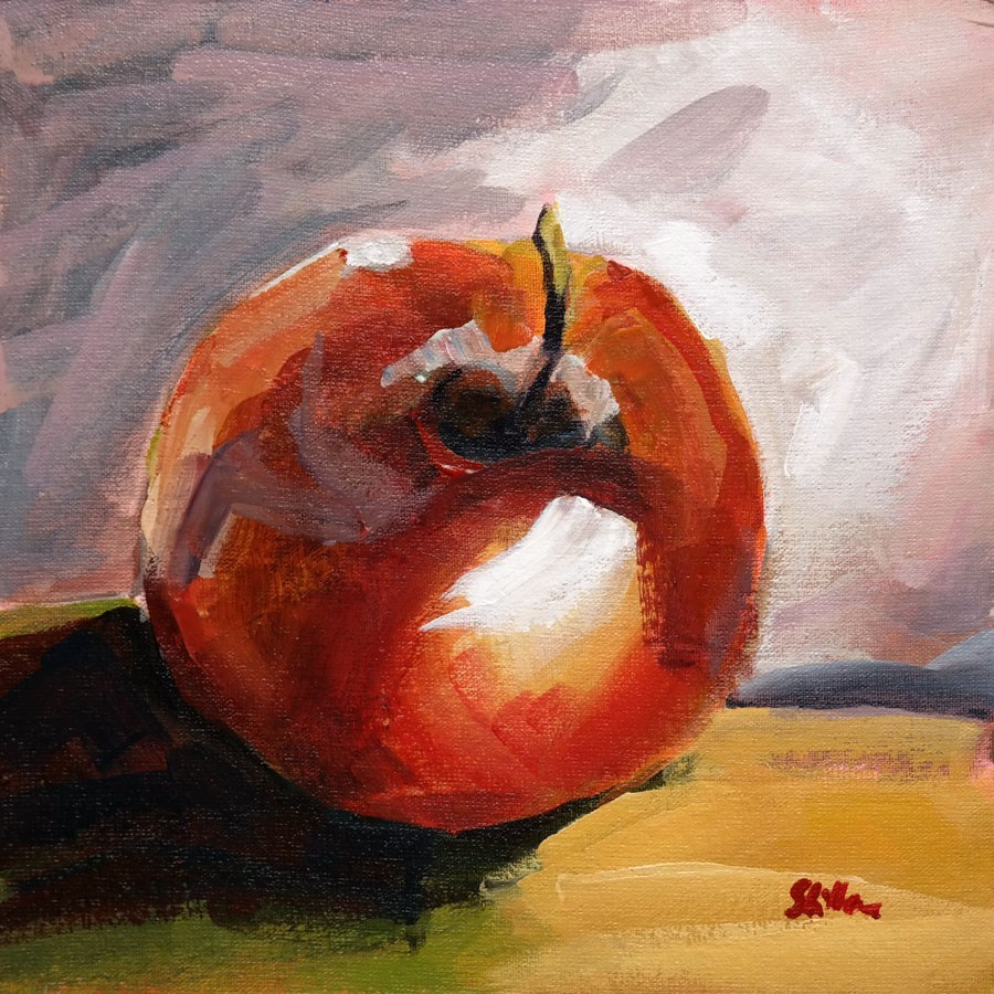 """1452 AppleStudy"" original fine art by Dietmar Stiller"