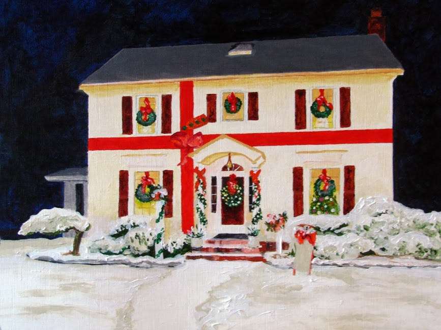 """House Gift"" original fine art by Nan Johnson"