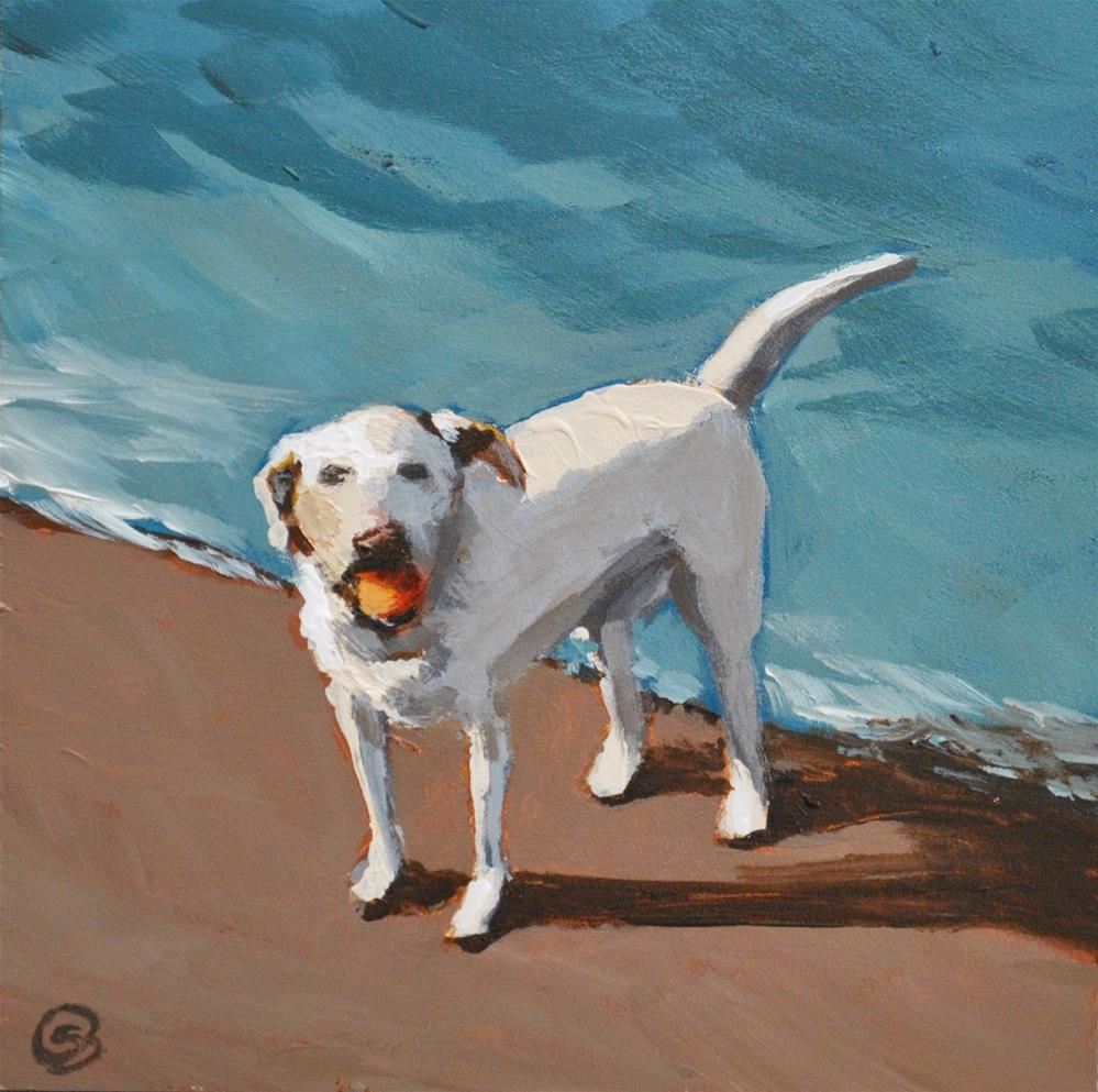 """Fetch Anyone?"" original fine art by Shari Buelt"