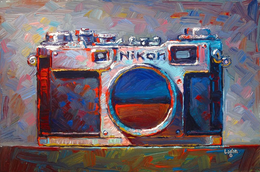 """Kathy's Nikon S2"" original fine art by Raymond Logan"