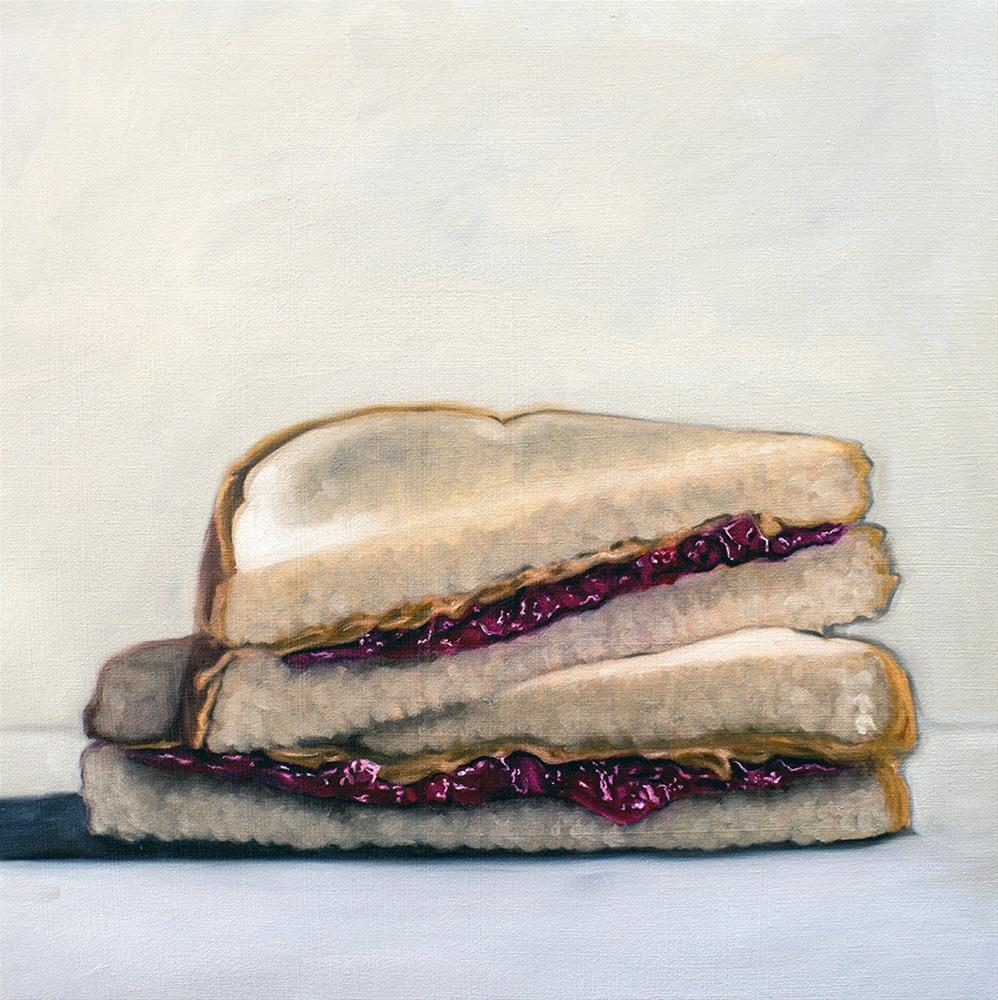 """PB&J Sandwich"" original fine art by Lauren Pretorius"