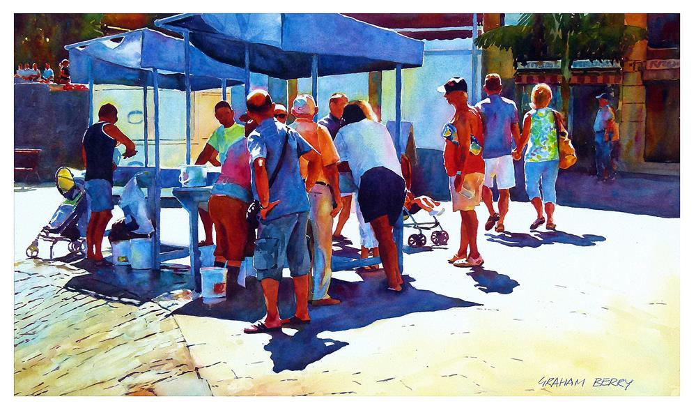 """Fish stall."" original fine art by Graham Berry"