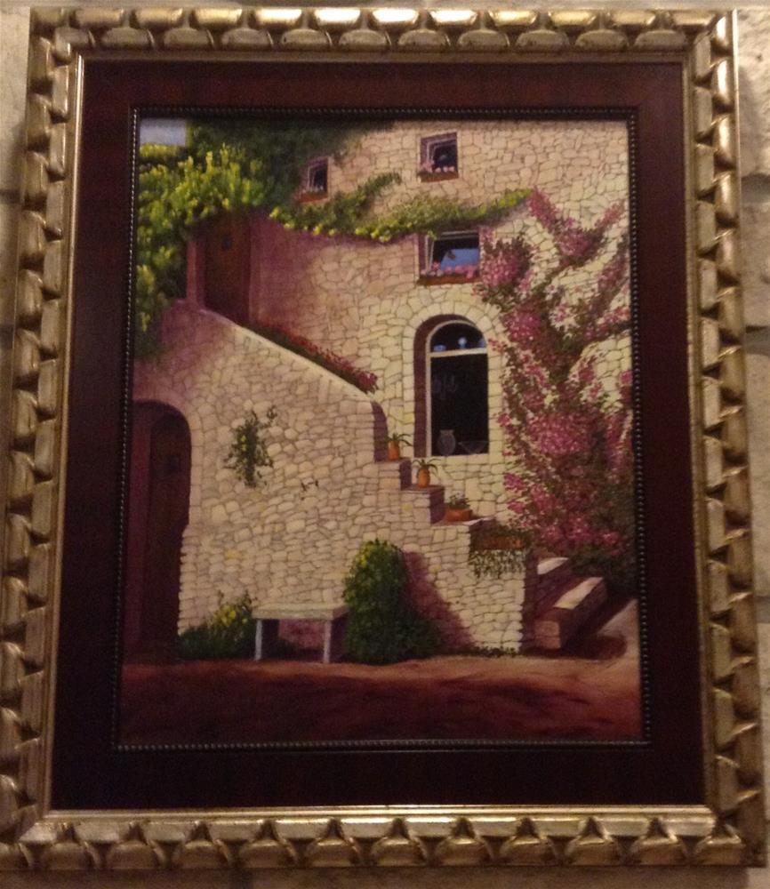 """French villa"" original fine art by Beau Crump"