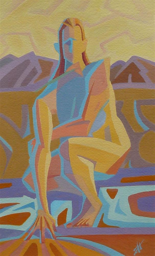 """Earth Goddess"" original fine art by Mark Allison"