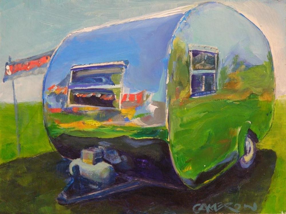 """TIN CAN TOURIST"" original fine art by Brian Cameron"
