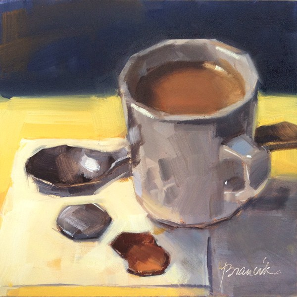 """""""Coffee and 27 Cents"""" original fine art by Candace Brancik"""