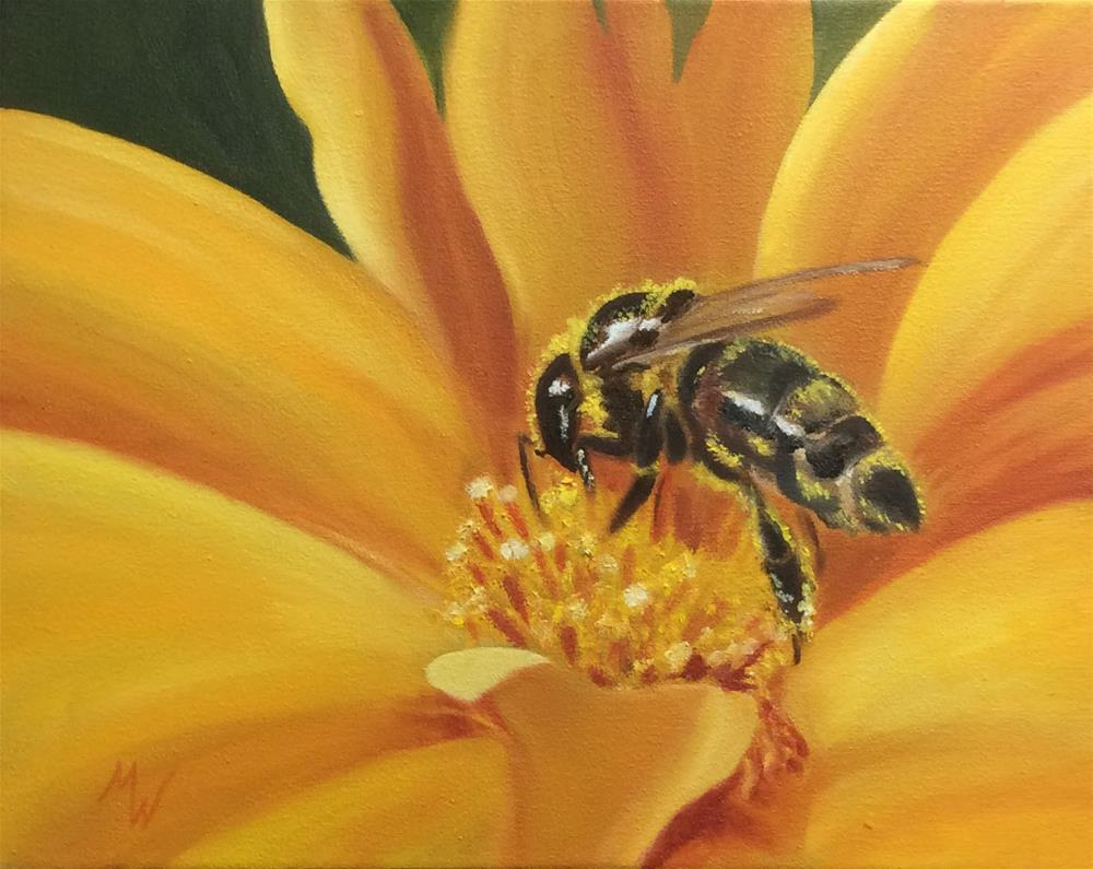 """Bee Import"" original fine art by Michelle Wolfe"