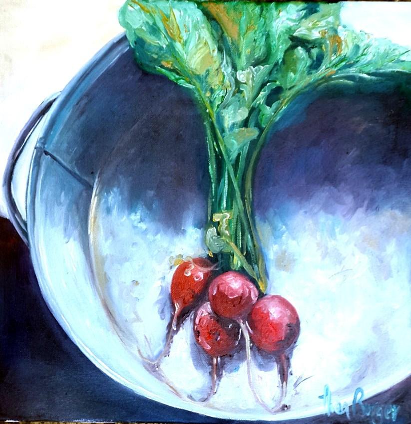 """Raddish in Dish"" original fine art by thea burger"