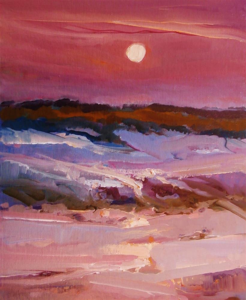 """Moonlight Morston"" original fine art by Anne Wood"