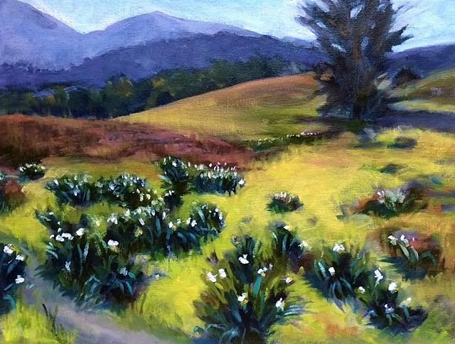 """Mt. Diablo Lilies"" original fine art by John Tullis"