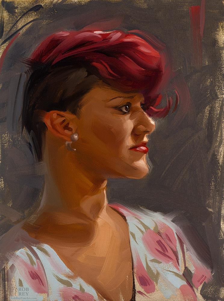 """""""Rockabilly"""" original fine art by Rob  Rey"""