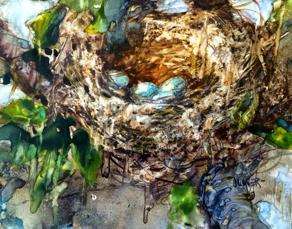 """Dryer Lint Nest."" original fine art by Julie Ford Oliver"