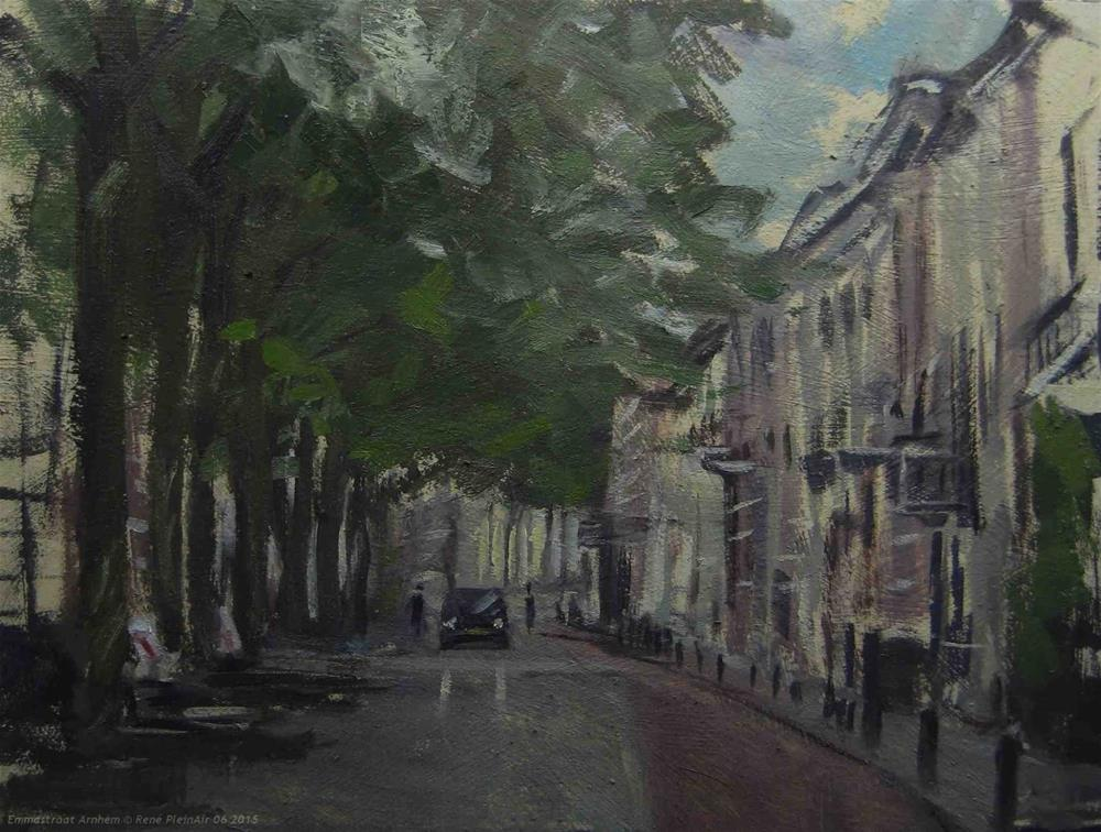 """Emmastreet. Arnhem, The Netherlands"" original fine art by René PleinAir"