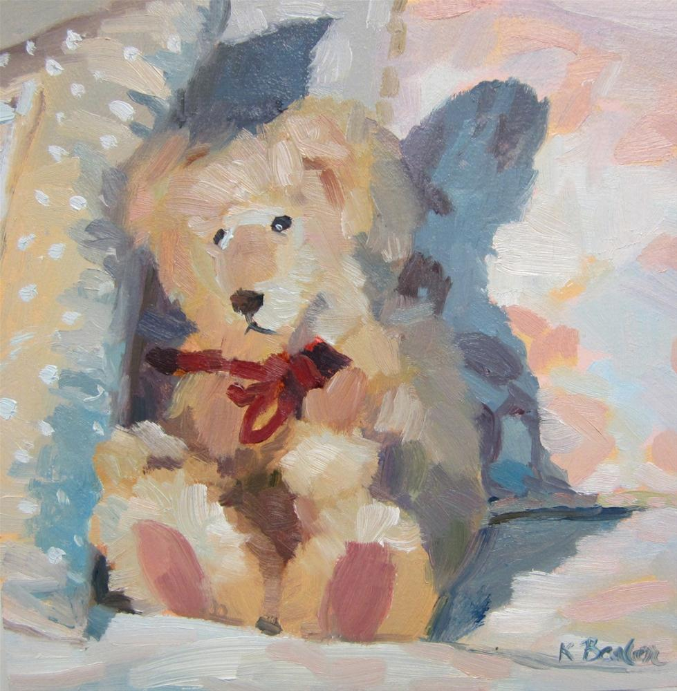 """Teddy"" original fine art by Kaethe Bealer"