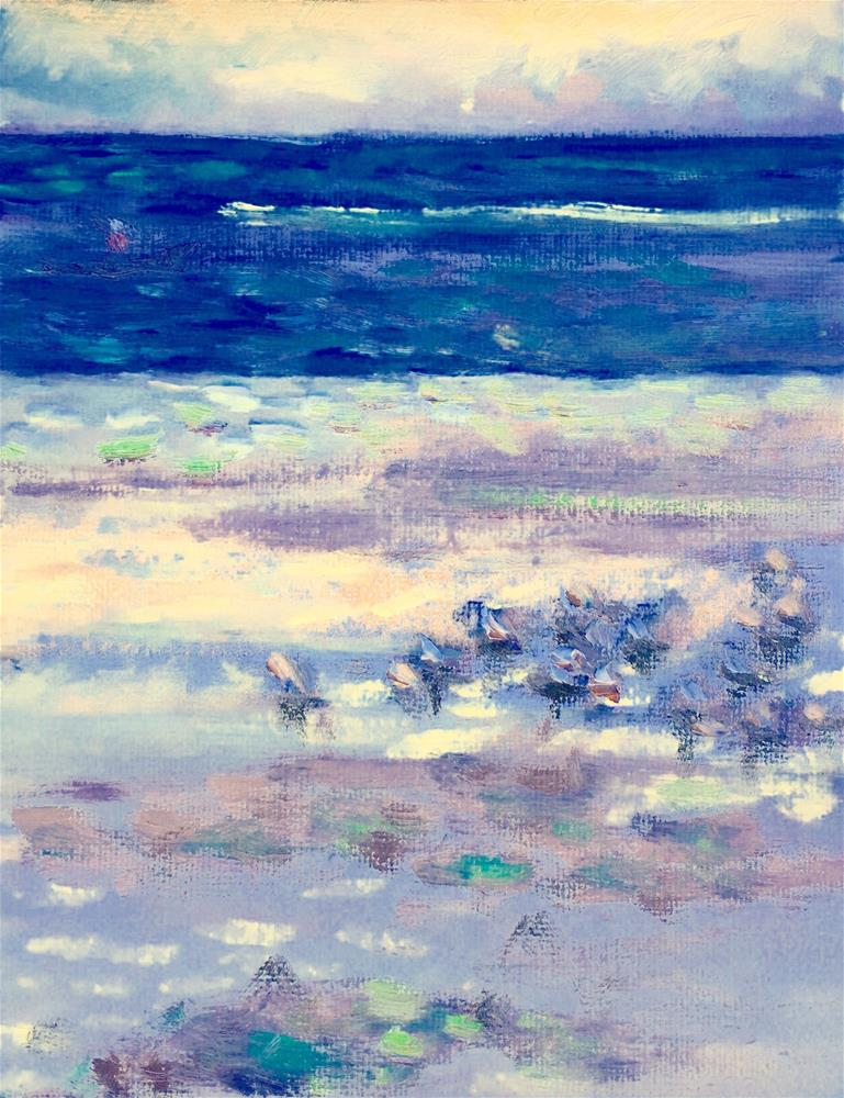 """""""Shorebirds"""" original fine art by Virginia Fergus"""