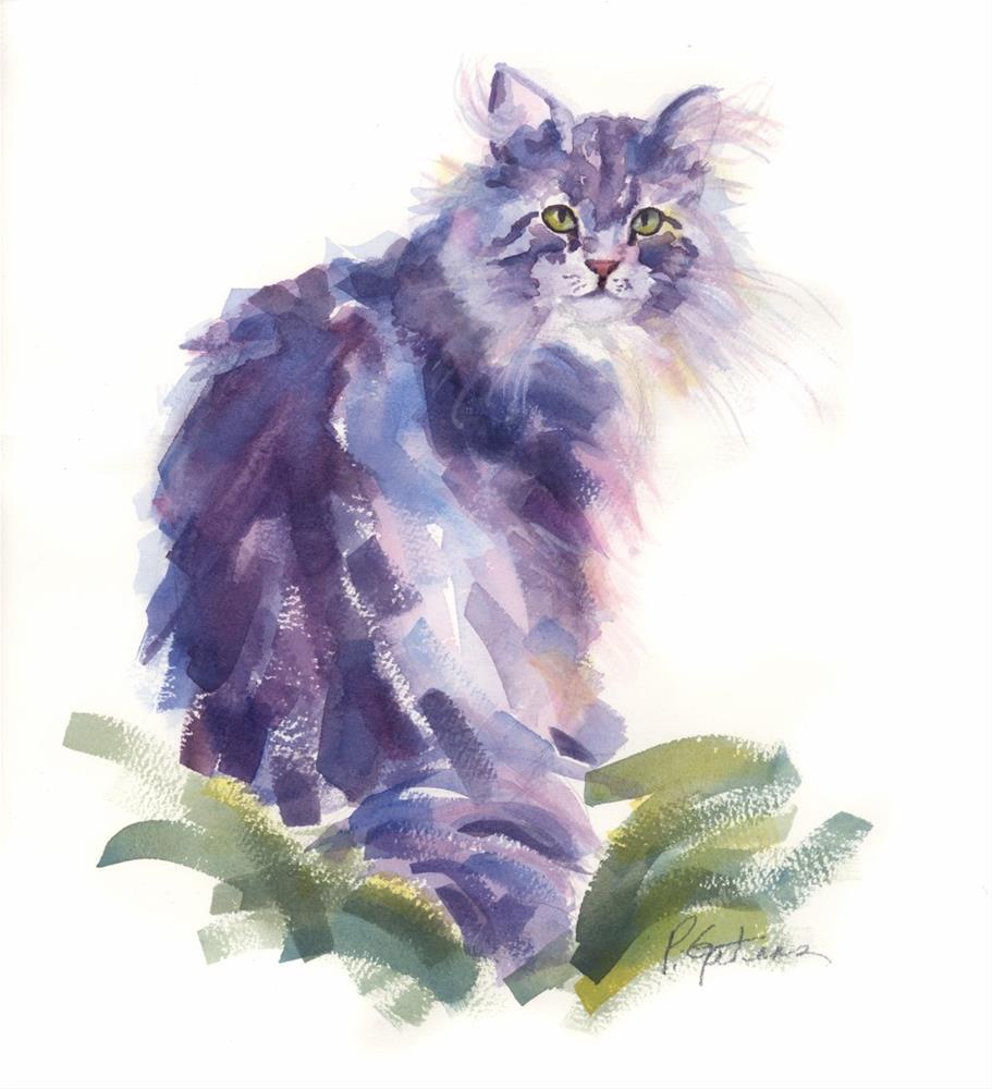 """Blue Topaz"" original fine art by Pamela Gatens"