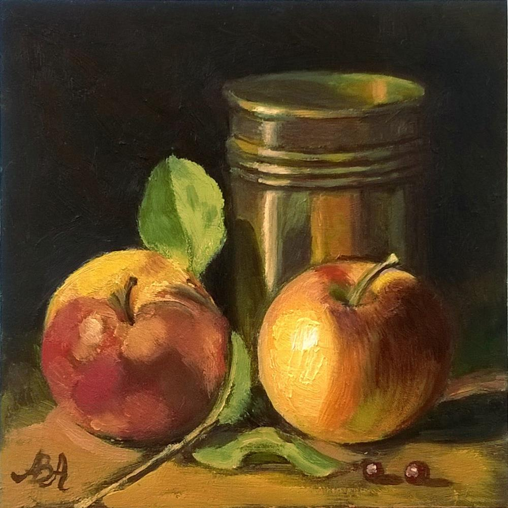 """Copper and Apples"" original fine art by Adriana B. Almquist"