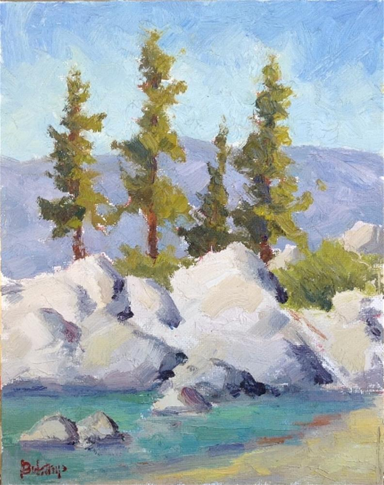"""Sand Harbor I"" original fine art by Mark Bidstrup"