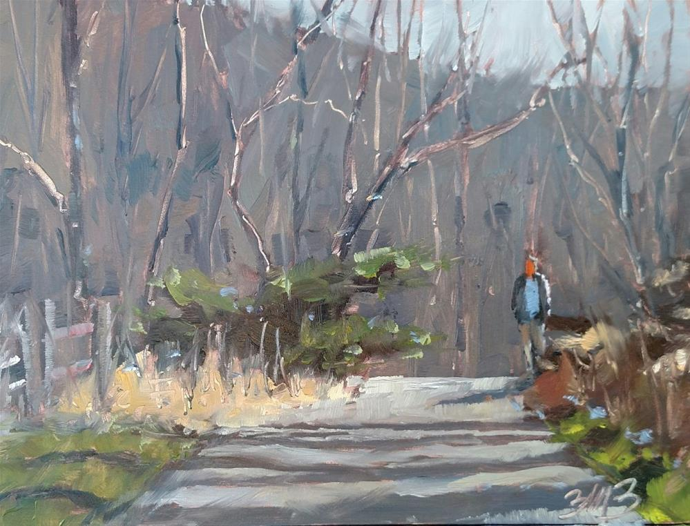"""Late Autumn Morning"" original fine art by Brienne M Brown"