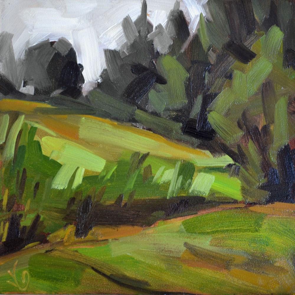 """Backyard I"" original fine art by Jessica Green"