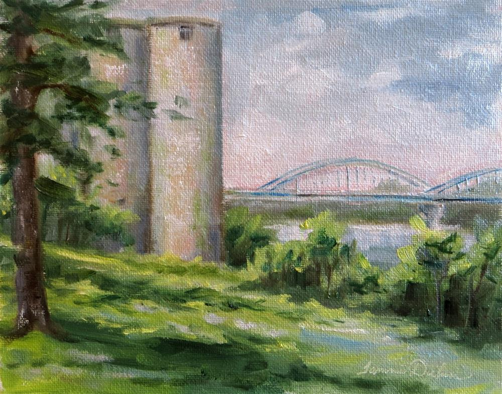 """Silos and Bridge in Leavenworth"" original fine art by Tammie Dickerson"