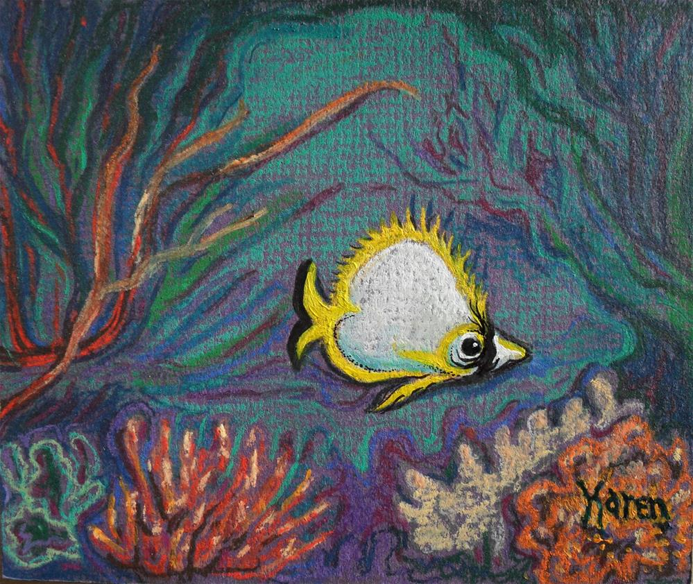 """Coral Dweller"" original fine art by Karen Roncari"