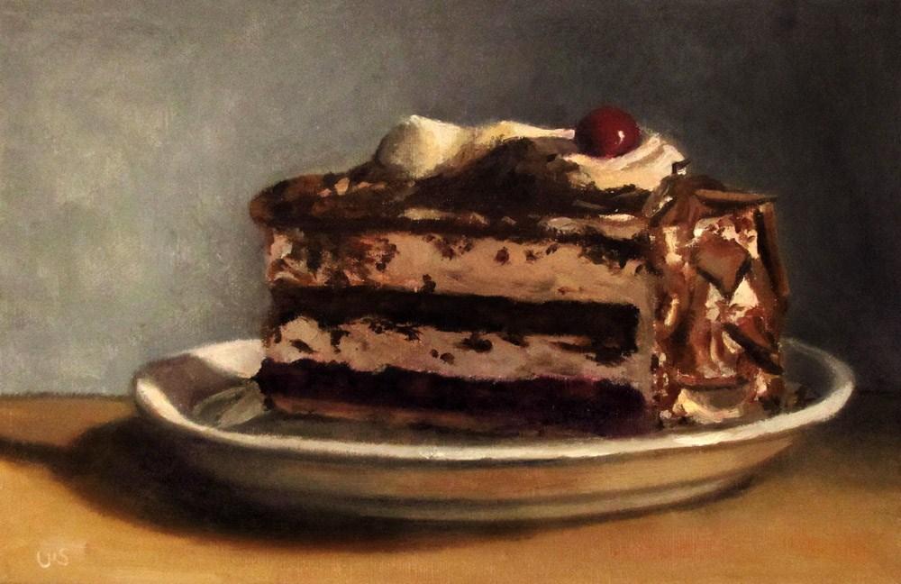 """""""Black Forest Cherry Cake"""" original fine art by Ulrike Miesen-Schuermann"""