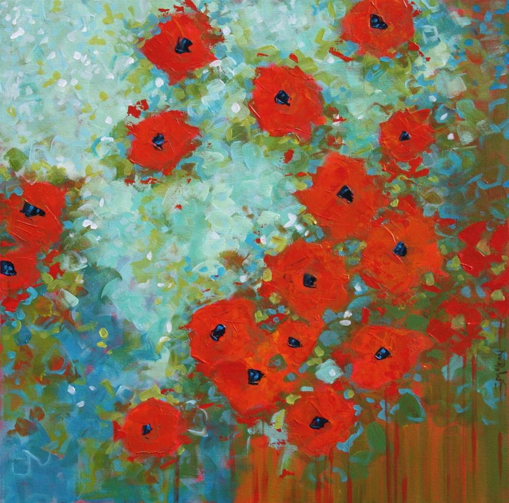 """Poppies in Bloom"" original fine art by Sage Mountain"