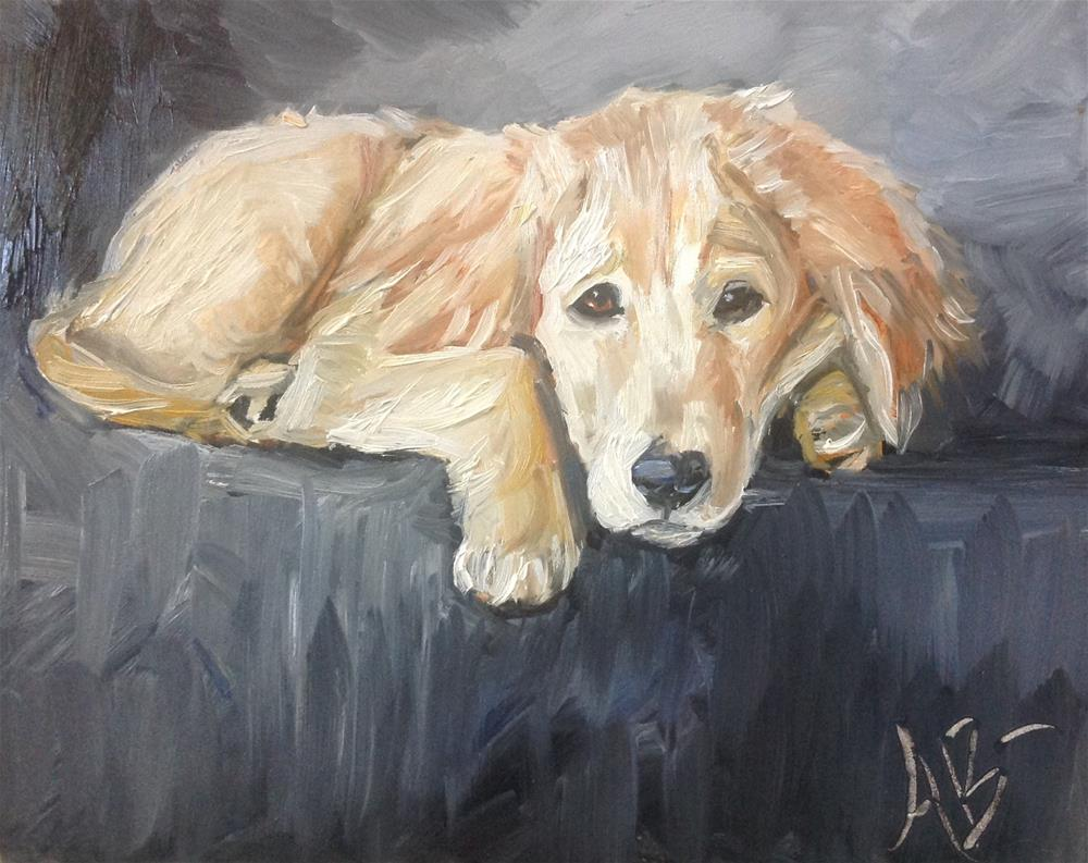 """A Golden's place"" original fine art by Annette Balesteri"