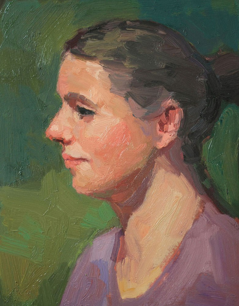 """Portrait Study #27"" original fine art by Kathryn Townsend"
