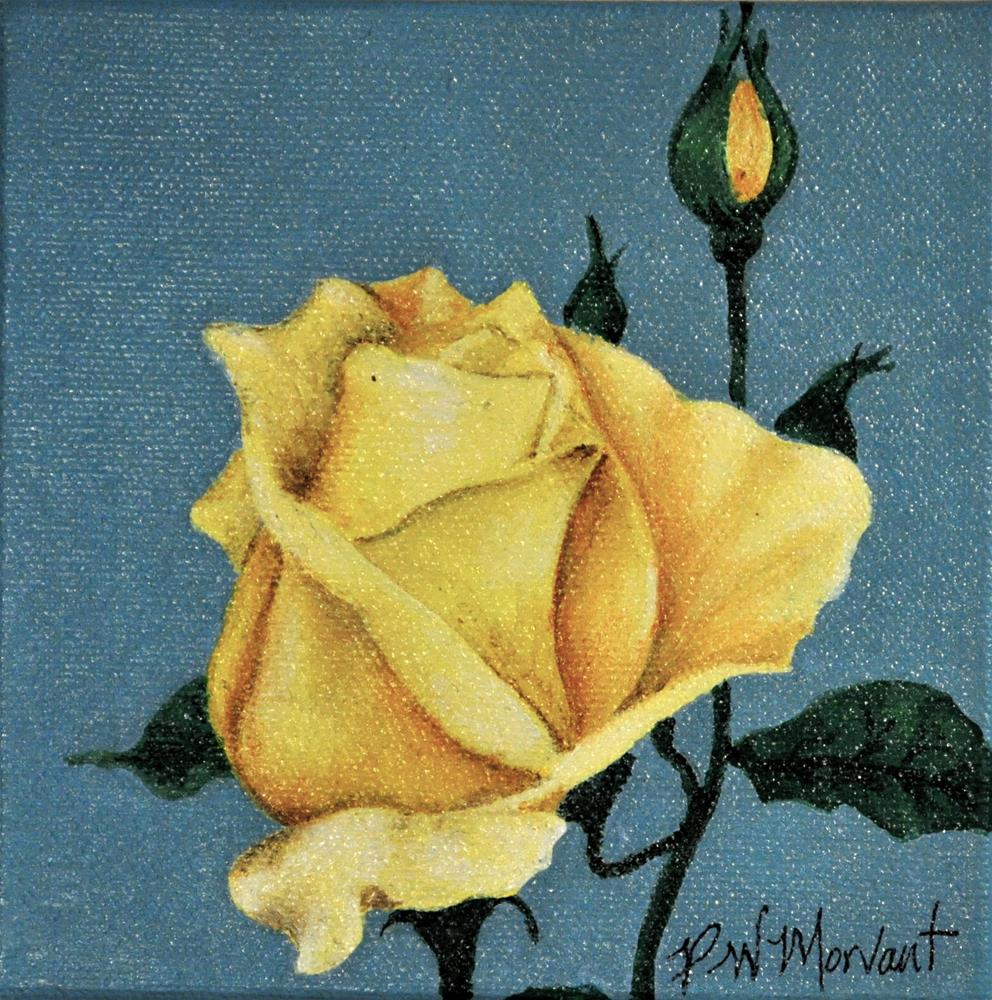 """Yellow Rose of Texas"" original fine art by Peggy W Morvant"