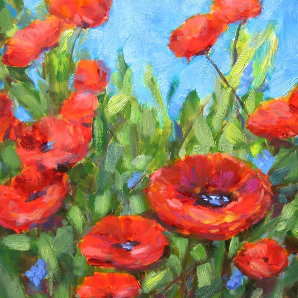 """Summer Blooms"" original fine art by Robie Benve"