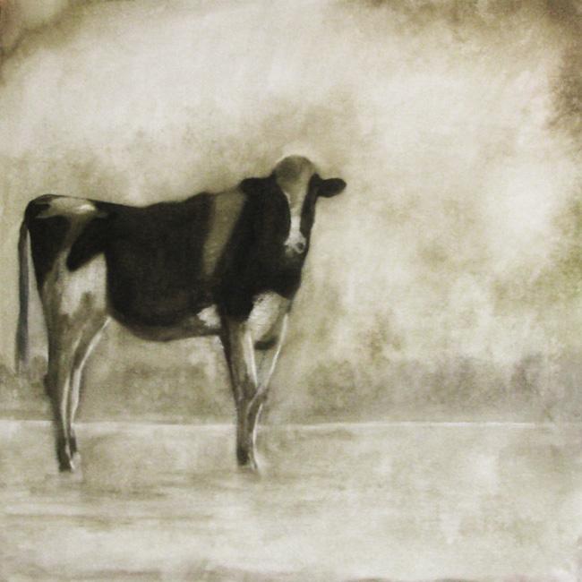 """The Farm"" original fine art by Donna Thomas"