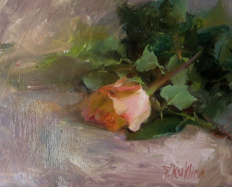 """rose"" original fine art by Taisia Kuklina"