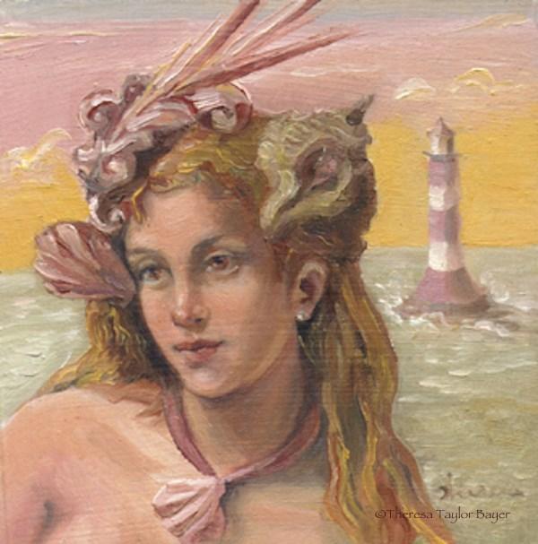 """Mrs. Eddystone"" original fine art by Theresa Taylor Bayer"