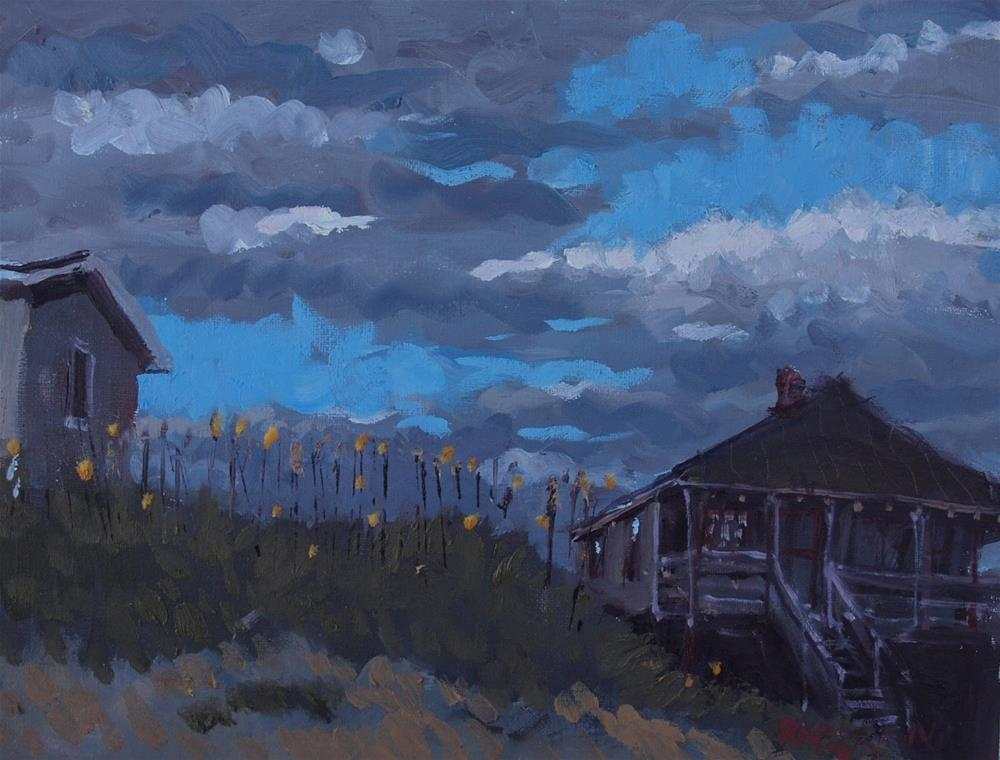 """Along the Beach Road"" original fine art by Rick Nilson"