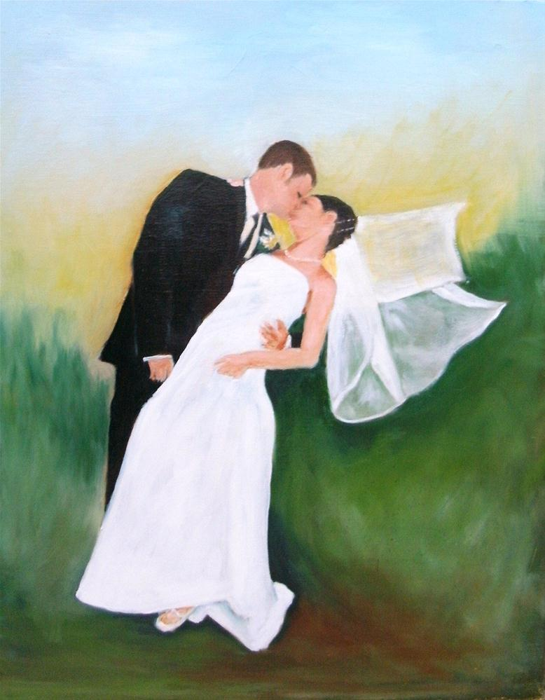 """Sealed with a Kiss"" original fine art by Lynn Darby"