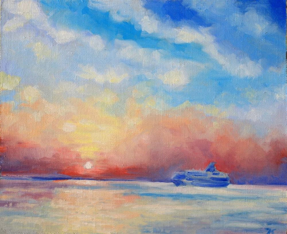 """sunset"" original fine art by Juri Semjonov"