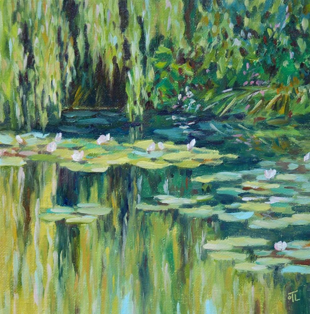 """DCS #12 At Giverny, for Monet-ish challenge"" original fine art by Olga Touboltseva-Lefort"