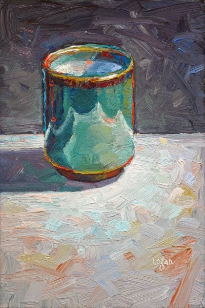 """Tea Bowl or Mug or Cup or Whatever"" original fine art by Raymond Logan"