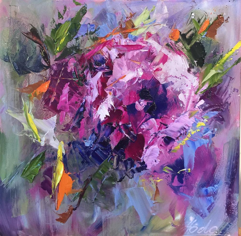 """Abstract Flower"" original fine art by Hoda Nicholas"