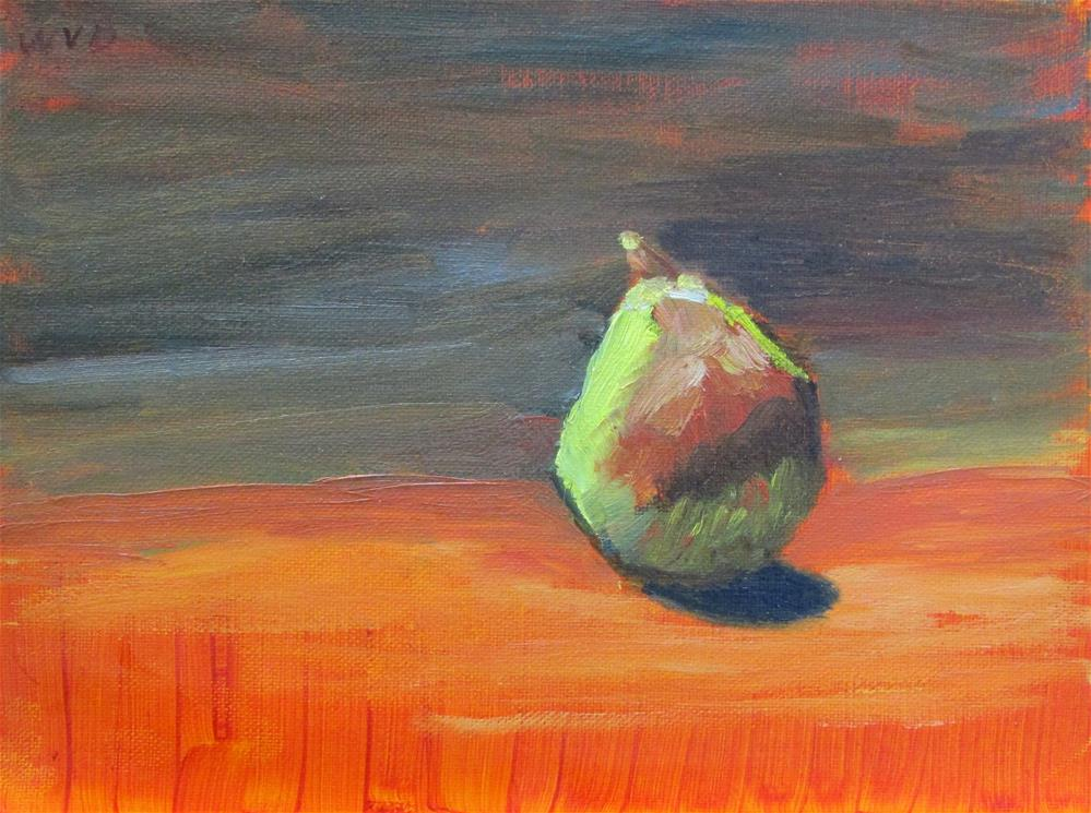 """Pear in Orange"" original fine art by Will Dargie"