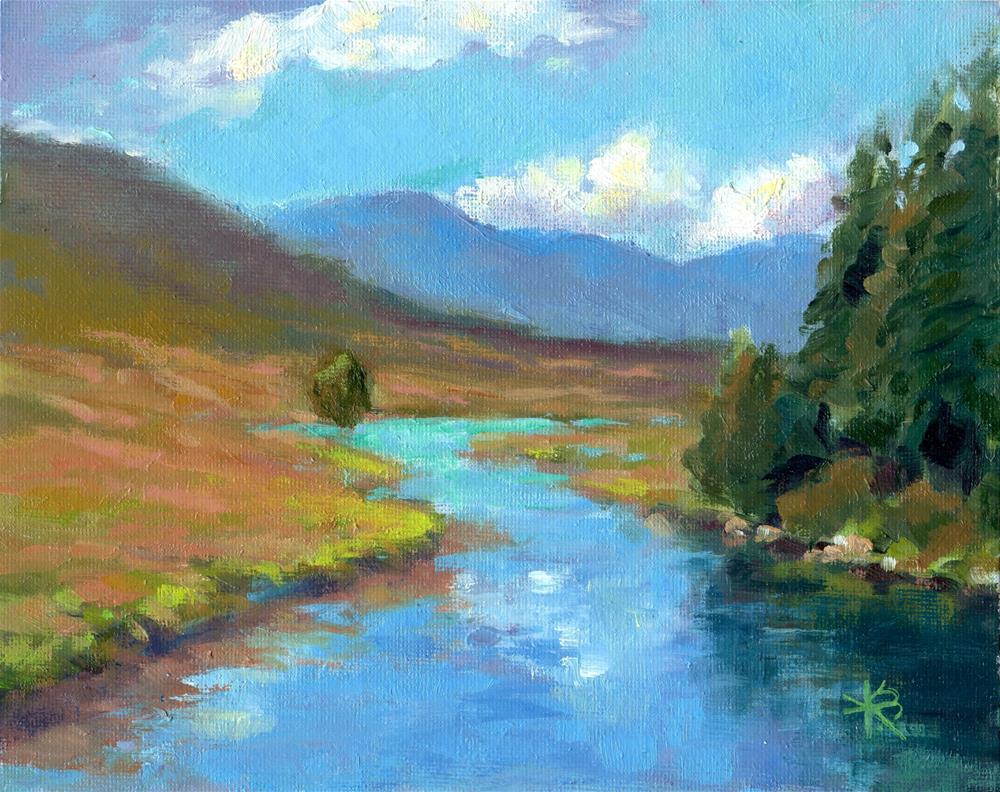 """Water View - Scotland"" original fine art by Kathy Bodamer"