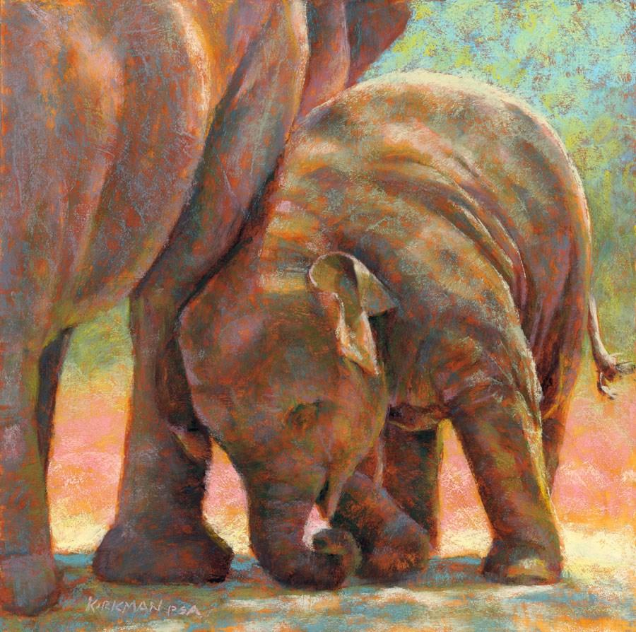 """Baby and Mama E"" original fine art by Rita Kirkman"